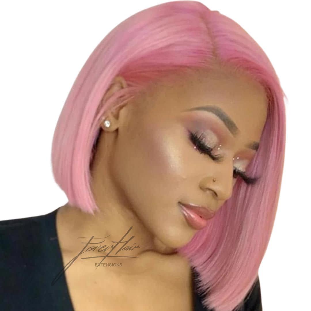 parrucca rosa capelli veri