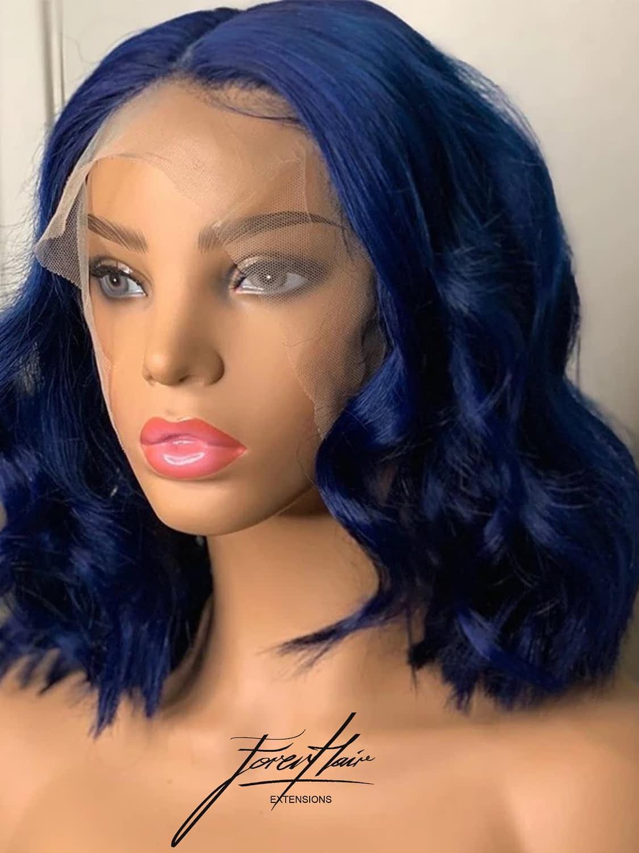parrucca cosplay blu