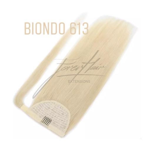 CODA BIONDA PLATINO 65 cm