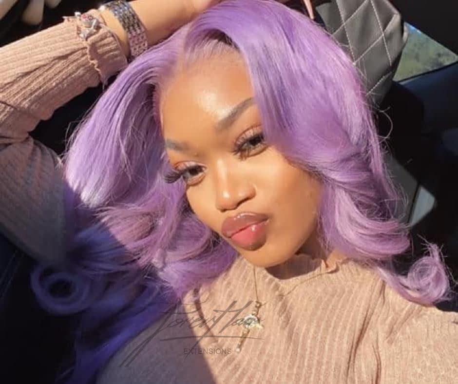 parrucca mossa lilla